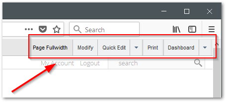 The ShoutCMS Site Editor Menu